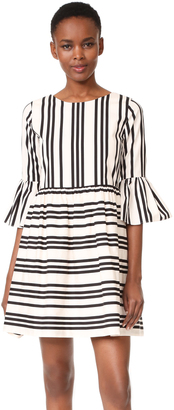 alice + olivia Augusta Ruffle Sleeve Dress $330 thestylecure.com