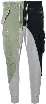 Greg Lauren patchwork cargo trousers