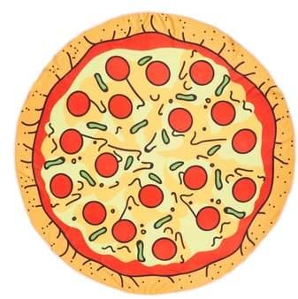 Capelli New York Cheesy Pizza Round Towel