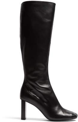 Joseph Block-heel leather knee-high boots