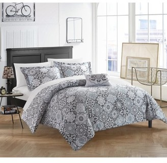 Chic Home Winona 4 Piece Reversible Duvet Cover Set 100% Cotton Bohemian Inspired