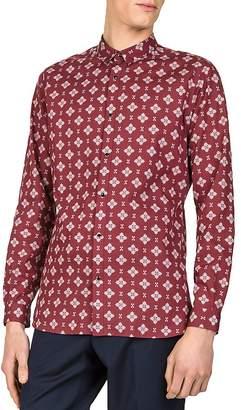 The Kooples Paisley Pop Slim Fit Button-Down Shirt