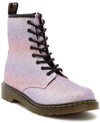 Dr. Martens Delaney Glitter Pink Air Wair Boot (Big Kid)