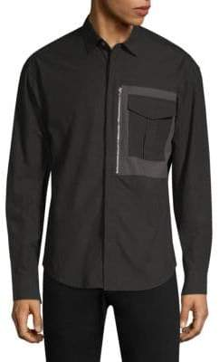 P.L.C. Men In Silhouette Zipper Pocket Shirt