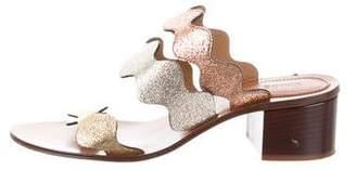 Chloé Metallic Slide Sandals