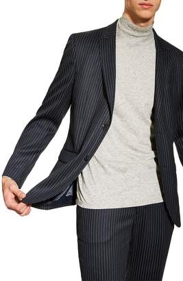 Topman Tailored Pinstripe Suit Jacket