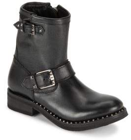 Ash Soho Studded Leather Ankle Boots