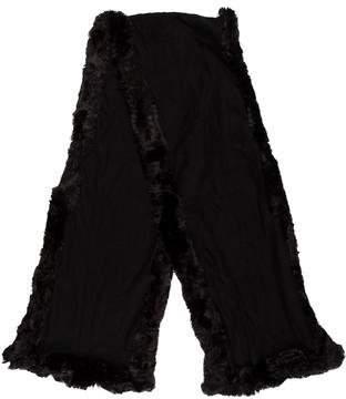 Saks Fifth Avenue Faux Fur-Trimmed Knit Stole