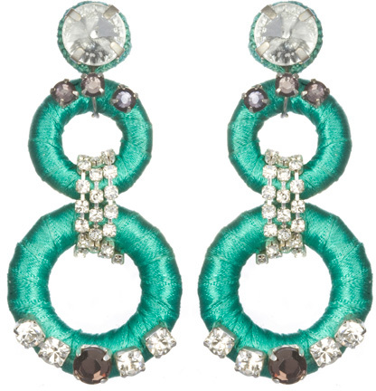 Suzanna Dai Double-Drop Earrings