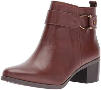 Anne Klein AK Sport Women's Jeannie Leather Ankle Boot
