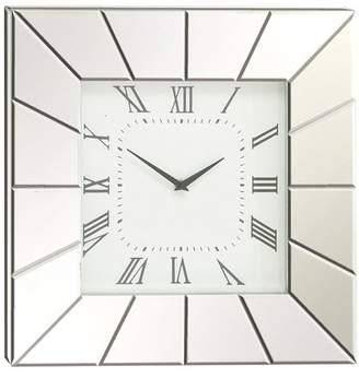 DecMode Decmode Wood Mirror Wall Clock, Silver