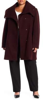 Cole Haan Oversized Wool Jacket (Plus)