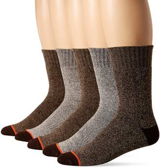 Weatherproof Men's 5 Pack Full Terry Thermal Crew Socks