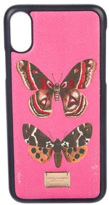 Dolce & Gabbana Butterfly Leather Phone Case