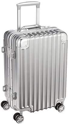 Siffler (シフレ) - [シフレ] ハードフレームスーツケース 小型 Sサイズ 頑丈 機内持ち込み可能 1年保証付き TRIDENT トライデント TRI1030-48 保証付 33L 48 cm 3.8kg シルバー
