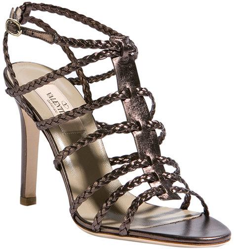 Valentino Chocolate Strappy Sandals