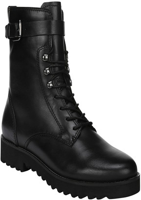 Franco Sarto Leather Combat Booties - Canon