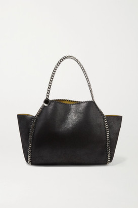 Stella McCartney The Falabella Medium Reversible Faux Brushed-leather Tote - Black