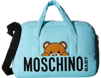 Moschino Kids - Teddy Bear Logo Diaper Bag w/ Mat Diaper Bags $356 thestylecure.com