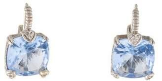 Judith Ripka Synthetic Quartz & Diamond Drop Earrings