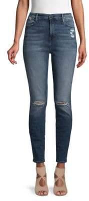 Frame Medium Wash High Rise Skinny Jeans