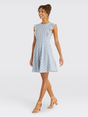 Draper James Linen Embroidered Dress