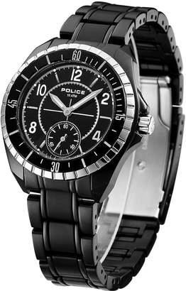 Police Women's PL-12207MSTB/02M Navy III IP Steel Bracelet Watch