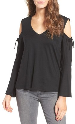 Women's Ella Moss Bella Bell Sleeve Cold Shoulder Top $118 thestylecure.com