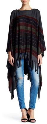 Couture Go Fringed Sweater Poncho
