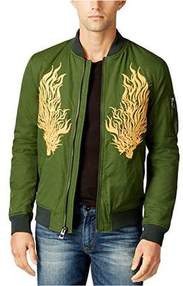 GUESS Men's Explorer Embroidered Bomber