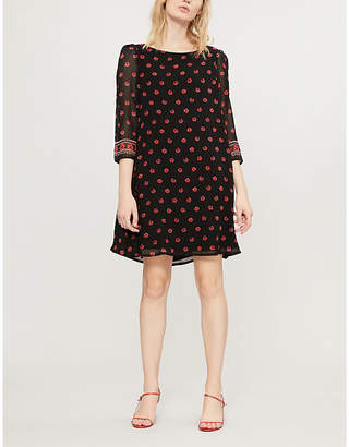 Claudie Pierlot Flared floral-print crepe mini dress