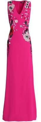 Roberto Cavalli Embellished Crepe Gown