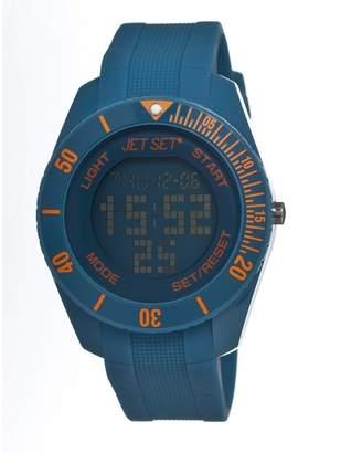 Jet Set of Sweden Bubble Touch Digital Dial Cerulean Plastic Unisex Watch