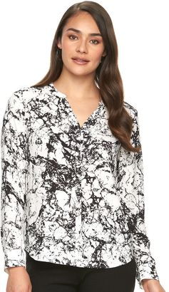 Women's Apt. 9® Crepe Blouse $36 thestylecure.com
