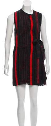 Proenza Schouler Raw-Edge Silk Dress Black Raw-Edge Silk Dress