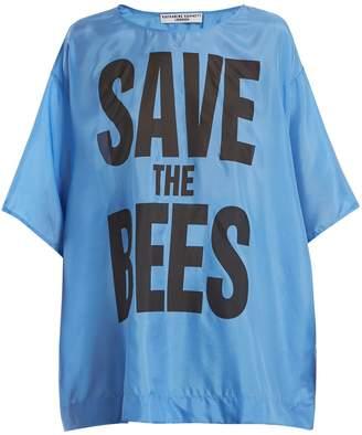 Katharine Hamnett Save The Bees-print silk T-shirt