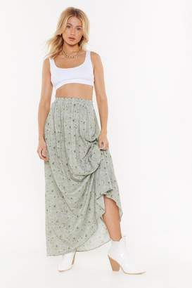 d2ea1bb31a Nasty Gal I Can't Be-Leaf You High-Waisted Maxi Skirt
