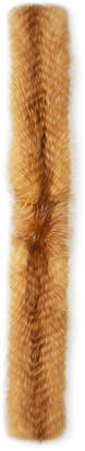Gorski Silver Fox Fur Feathered Boa