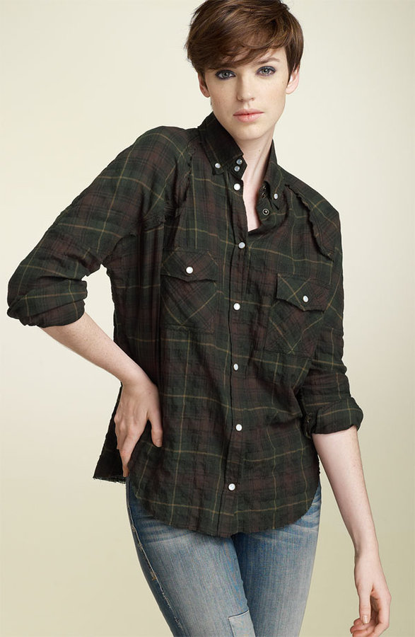 William Rast Drop Shoulder Plaid Shirt
