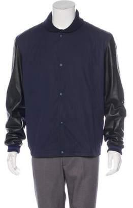 Gucci Leather-Trimmed Bomber Jacket black Leather-Trimmed Bomber Jacket