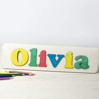 Natural Gift Store Personalised Name Puzzle