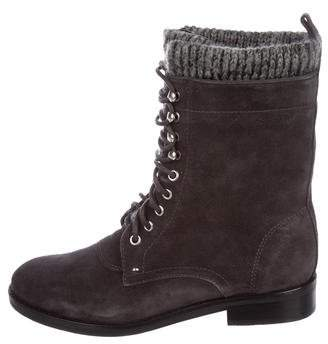 Sigerson Morrison Suede Lace-Up Ankle Boots