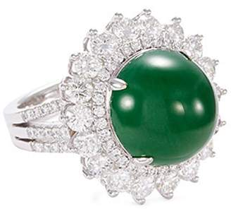 LC Collection Jade Diamond jade 18k gold ring