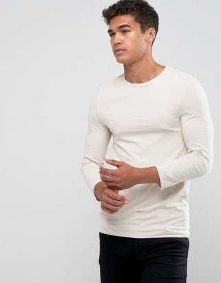 Asos DESIGN Extreme Muscle Fit T-Shirt With 3/4 Length Sleeves In White