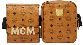 MCM Stark Double Logo Belt Bag