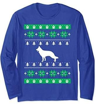 Funny German Shepherd Dog TShirt-Ugly Christmas Sweater