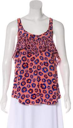 Rebecca Taylor Floral Printed Sleeveless Top
