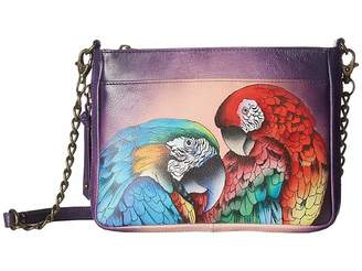 Anuschka 636 Compact Crossbody with Front Pocket