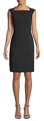 BOSS Women's Dekala1 Keyhole Back Crepe Dress - Size 0