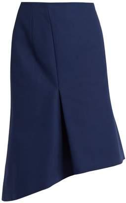 Balenciaga Asymmetric cotton skirt